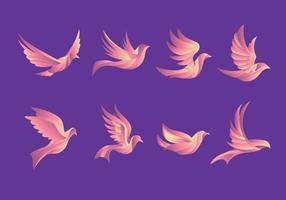 Dove Pigeon Schöne Fliegen Illustration