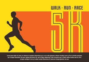 5K-affisch vektor