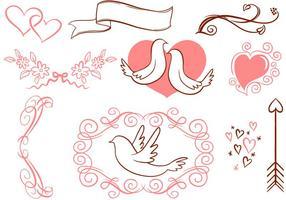 Kostenlos Romantische Vektoren