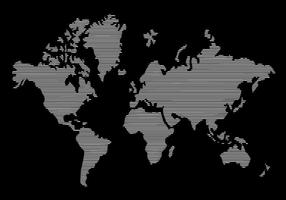 Linie Weltkarte vektor