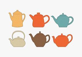 Polkadot Teekanne Sammlung vektor