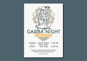 Tanzen Frau Garba Poster-Vorlage