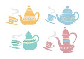 Scandinavian Style-Teekanne vektor
