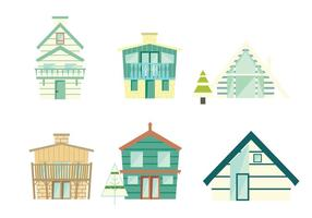Pastell Chalet Vector