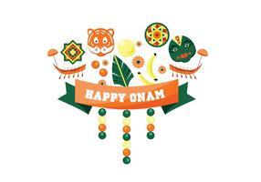 Glad Onam Festival Vector
