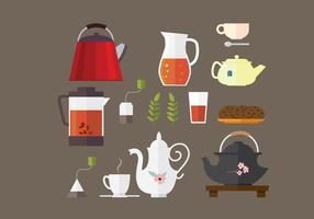 Tee und Teekanne Element Vektoren