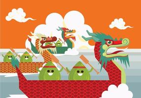 Dragon Boat Racing Vector