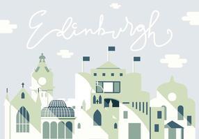 Vektor-Illustration von Edinburgh City vektor