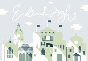 Vektor Illustration av Edinburgh City
