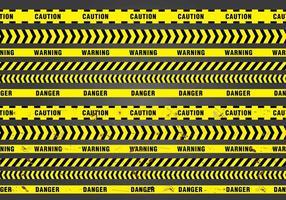 Nahtlose Gefahr Band vektor