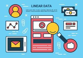 Freie Flat Line-Marketing-Vektor-Elemente vektor