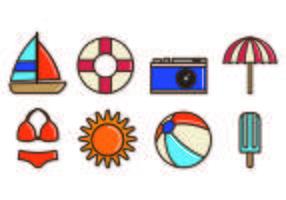 Set Playa Icons vektor