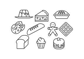Freie Food Line Icons Vector
