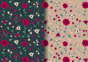 Freies Vintage Rose-Muster vektor
