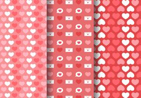 Fri kärlek Hearts Pattern