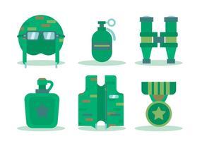 Krieg und Soldaten Werkzeug Vektoren