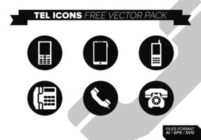 Tel ikoner Free Vector Pack