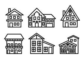 Frei Chalet Icons Vector