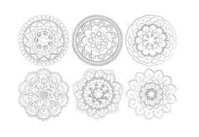 Mandala-Blume Shapes-Sammlung vektor