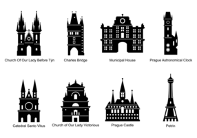 Prag Silhouetten Vektor