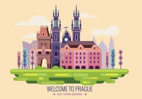 Willkommen in Prag Vector