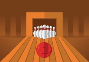 Bowlingbana Illustrationer vektor