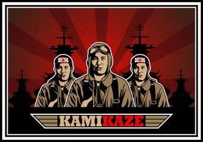 Kamikaze-Armee-Vektor Hintergrund vektor