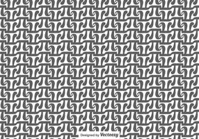 Grau und Weiß Vektor-PU-Symbol nahtlose Muster
