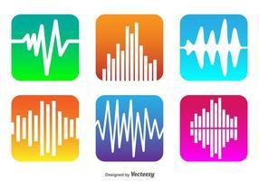 Vector Soundbar Icons
