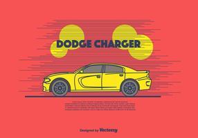 Dodge Charger Vector Bakgrund