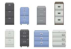 Silber und Blau File Cabinet Vektoren
