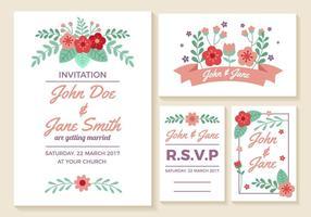 Bröllop inbjudningskort Vector