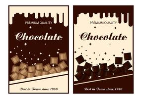 Schokoladen-Label-Vektor-Vorlagen vektor