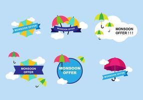 Monsoon Sticker Design vektor