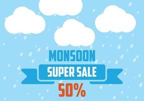 Monsun Bakgrund Vector