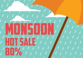 Monsoon Hintergrund Vektor