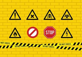 Gefahr Band und Zeichen Free Vector