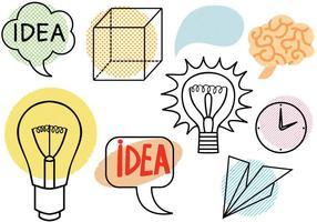Vektoren Geist und Idee