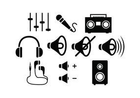 Free Sound silhuett vektor