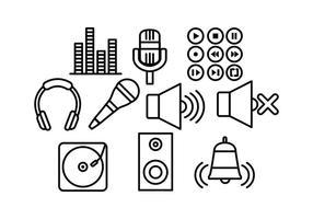 Free Sound Line-Vektoren vektor