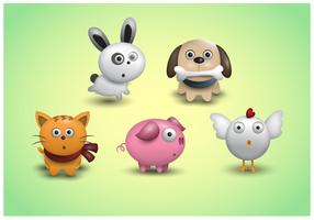 Gratis söta djur ikoner Vector
