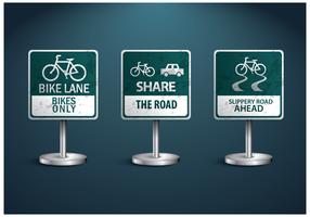 Gratis cykel Sign Vector