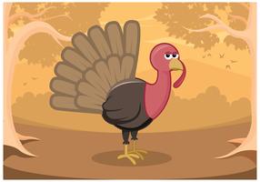 Freie Wild Turkey Vektor in Wald