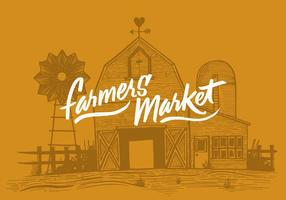 Bönder marknad ladugård vektor