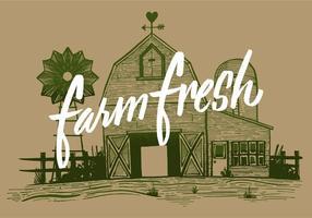 Bauernhof frische Scheune vektor