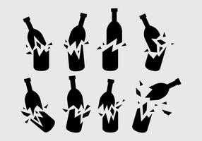 Schwarz zerbrochene Flasche Vektor