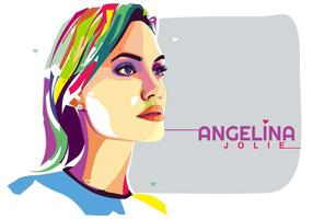 Angelina Jolie Vektor Popart Porträt
