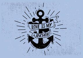 Fria händer som dras Anchor Bakgrund
