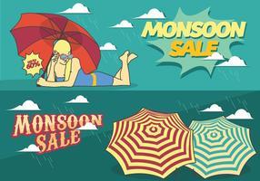 Monsoon Verkauf Jahreszeit Poster vektor