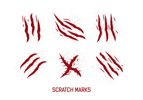 Gratis-Kratzer-Markierungen Vektoren